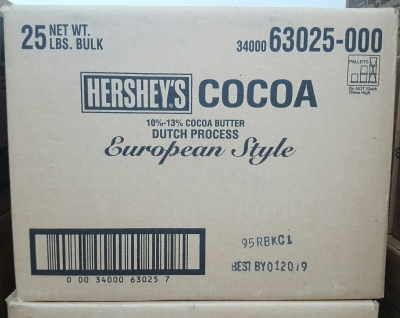 HERSHEY'S DARK Cocoa, Dutch Process, 10 - 13% Fat, 25 lbs